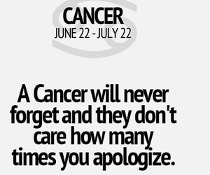 cancer, forget, and don't play image