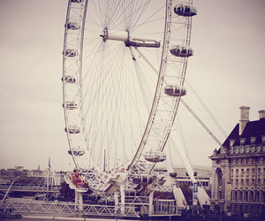 city, london, and london eye image