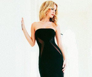 evening dresses, strapless, and mermaid dresses image