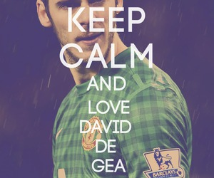 keep calm, manchester united, and david de gea image