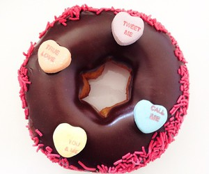 donut, food, and Valentine's Day image