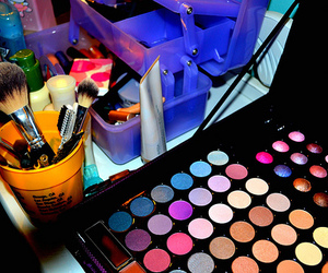 make up, makeup, and colors image