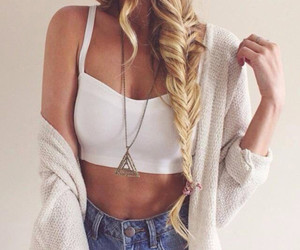 beauty, braid, and chic image