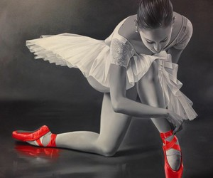 art, ballet, and woman image
