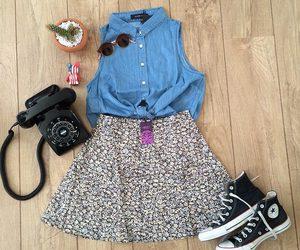 blue, converse, and fashion image