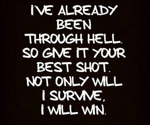 survive, hell, and quotes image