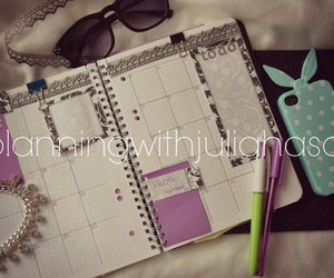 organizer, sticky notes, and planners image