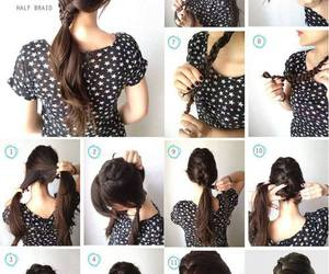 diy, hair, and hairdo image