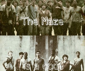 code, the maze runner, and thomas brodie-sangster image