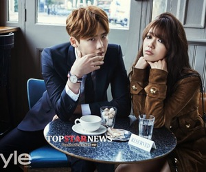 couple, instyle, and park shin hye image