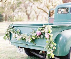 car, vintage, and farm image