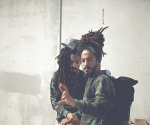 chill, dreads, and fashion image