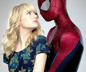 peter parker, emma stone, and gwen stacy image