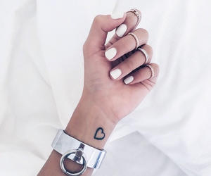 white, jewellery, and nails image