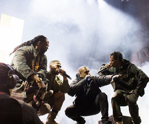 kanye west, big sean, and 2 chainz image