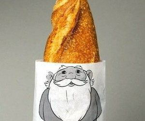 bread, food, and gnome image