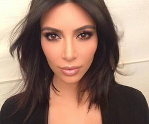 kim kardashian, makeup, and kim kardashian west image