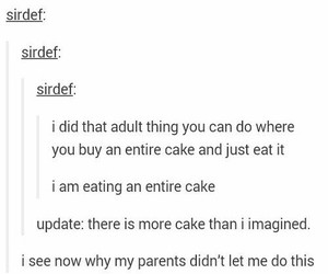 Adult, parents, and cake image