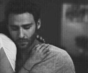 black and white, hug, and lili image