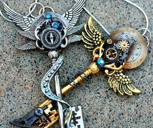 key, necklace, and steampunk image