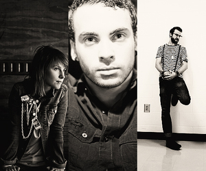 black and white, hayley williams, and jeremy davis image
