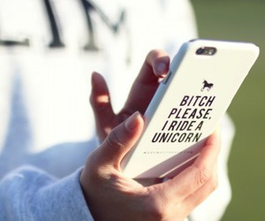 girl, unicorn, and iphone case image