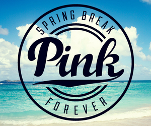 pink, summer, and beach image