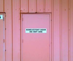 pink, door, and aesthetic image