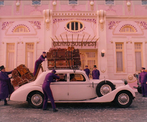 the grand budapest hotel, movie, and car image