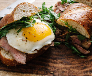 eggs, sandwich, and food image