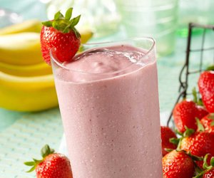 strawberry, food, and smoothie image