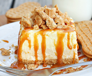 caramel, delicious, and cake image