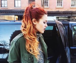 alternative, hair, and orange image