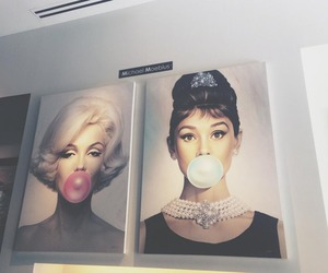 audrey hepburn, Marilyn Monroe, and art image