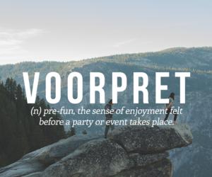 words, dutch, and voorpret image