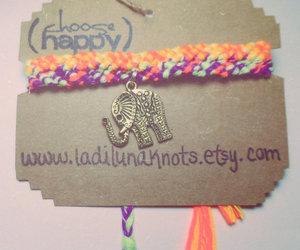 elephant, neon, and bracelets image