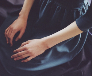 girl, hands, and dress image