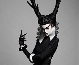 black, fashion, and goth image