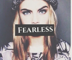 fearless, model, and cara delevigne image