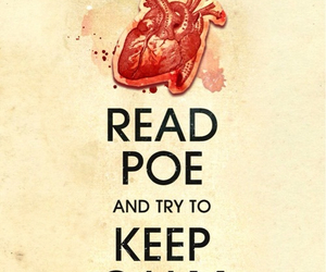 keep calm, poe, and book image
