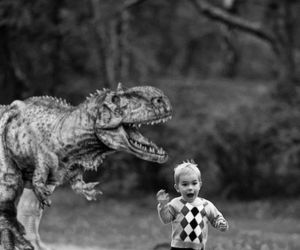dinosaur, funny, and boy image