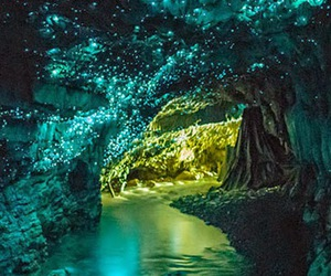 cave, light, and new zealand image