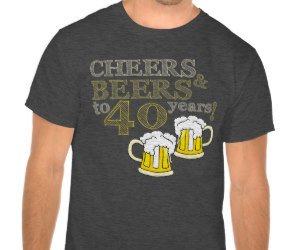 birthday tees, 40th birthday, and forty image