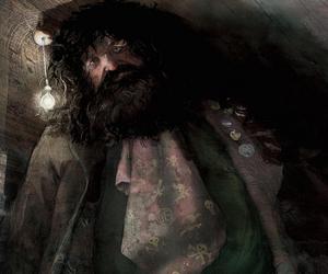 illustraion, hagrid, and harry potter image