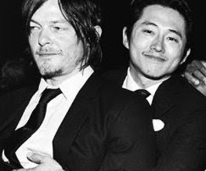 norman reedus, the walking dead, and steven yeun image