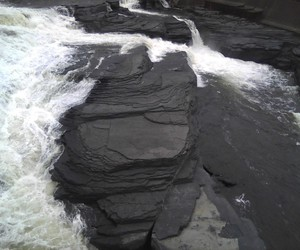 black, water, and rock image