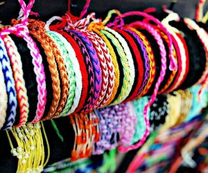 bracelet, colorful, and colors image