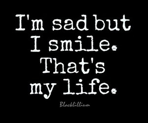 sad, life, and smile image