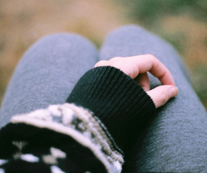hand, photography, and sweater image