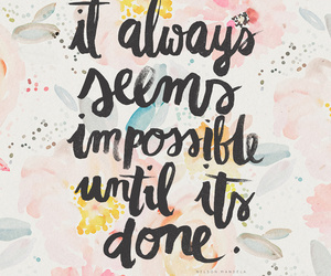 quotes, impossible, and inspiration image